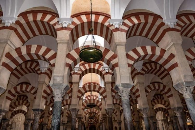 The mosque cathedral in Cordoba, Spain.