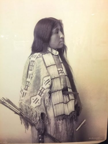 Indian woman at the Nebraska History museum.