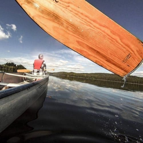 Paddling through pristine lakes in Dalsland, on Sweden's West Coast.