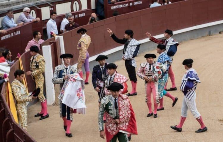 Proudly parading matadors in Madrid.