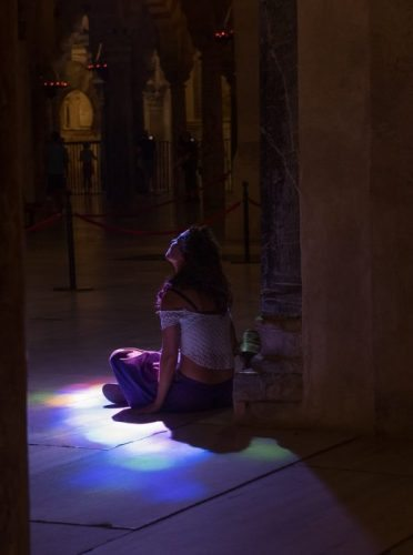 Seeking out the light at the Mezquita.