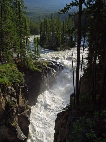 Sunwapta Falls, just one of many dramatic sites on this epic road trip.
