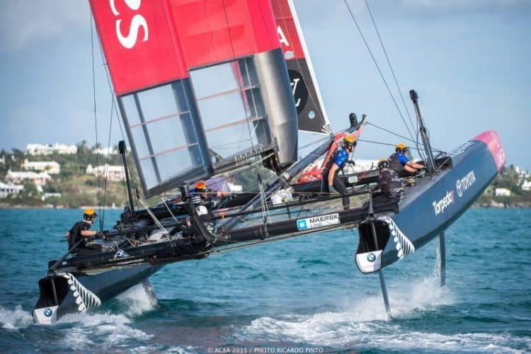 Louis Vuitton America's Cup World Series Bermuda training off the coast of Bermuda.