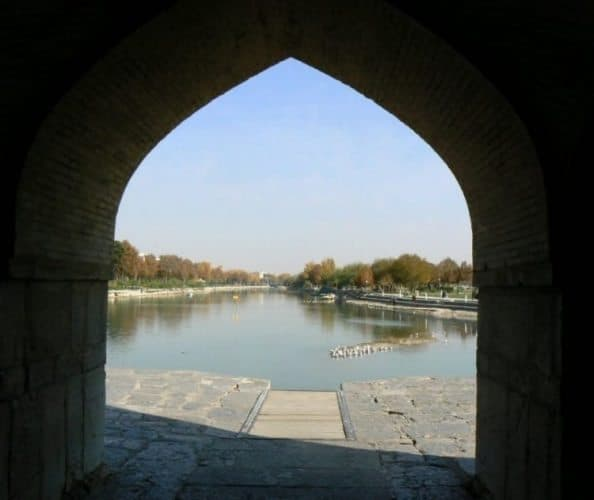 One of the most beautiful cities in Iran, Isfahan, is famous for its lovely bridges.