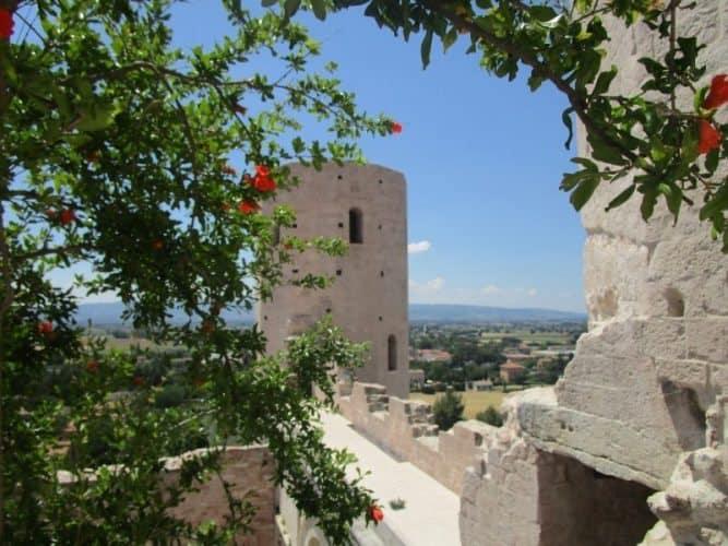 A castle in Spello, Italy.