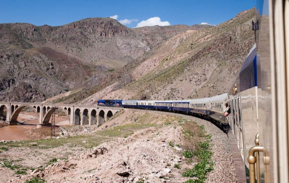 The Golden Eagle, a train in Iran. Image from MIR Corporation.