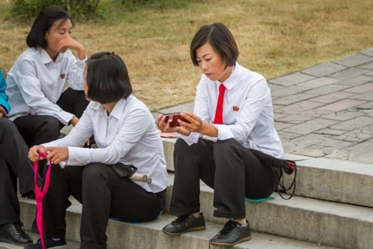 Everyone seems to have a phone now in Pyongyang, North Korea. Just like the rest of the modern world!