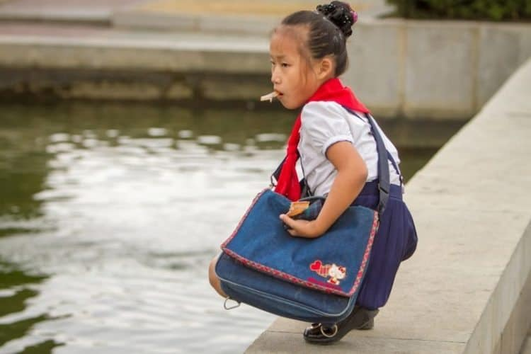 """Kids with formerly banned items like """"Hello Kitty"""" bags are now common."""
