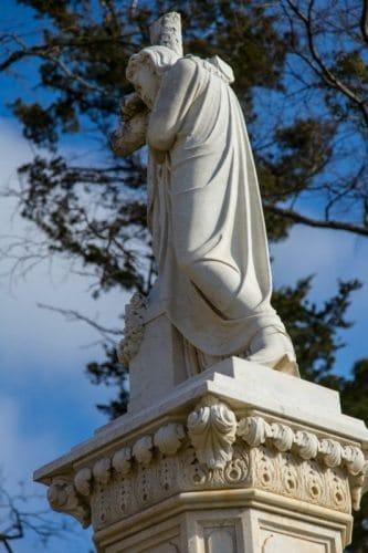 Statue of Jesus with Cowboy Boots   Paris Texas