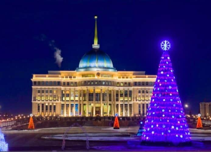 President Nazarbaev's residence which bears a striking resemblance to The White House.