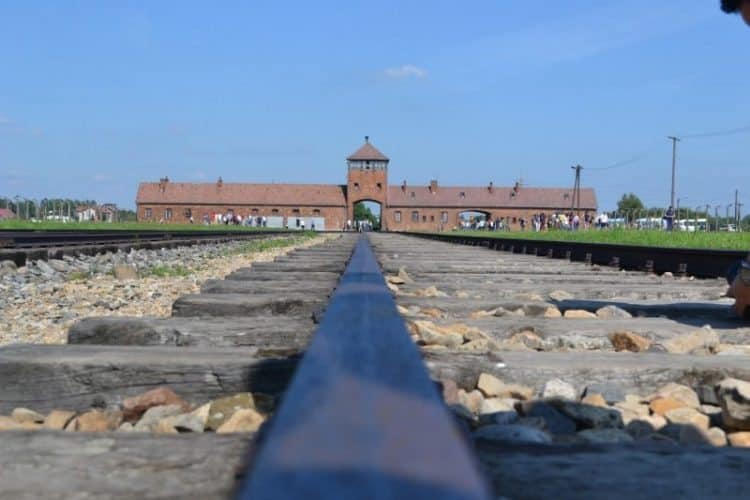 The railroad tracks that lead to Auschwitz in Poland. Vanessa Gibbs photos.