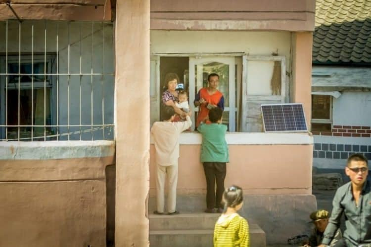 Solar panels now help light up rural parts of the country.