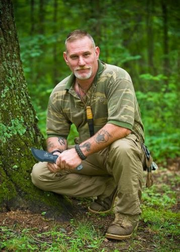An army veteran, Canterbury has become a master hunting and survival instructor.