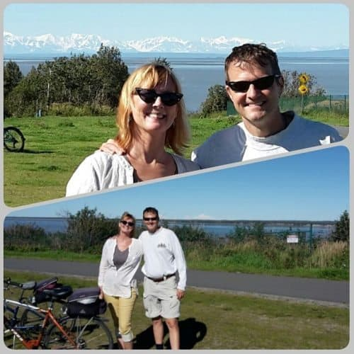 Riding the Coastal Trail in Anchorage
