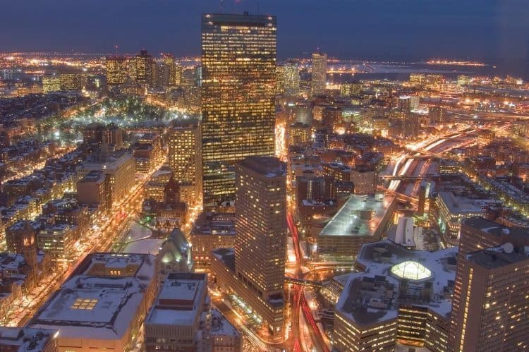 The Skywalk Observatory at the Prudential gives you a fifty-floor view of Boston