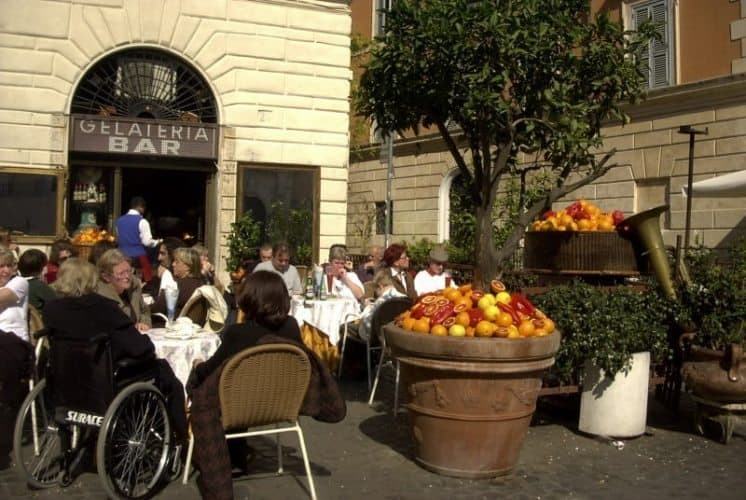 Cafe life in Roma. Martha Miller photo