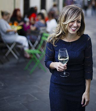 Found and CEO of Travel Italian Style Cassandra Santoro in Piazza Della Passera Florence. Photo by Maria Riazanova.
