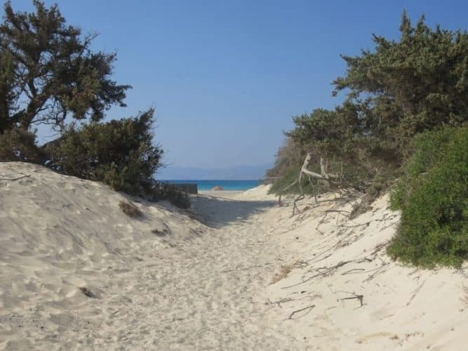 Dunes on Chrissi Island in Crete.