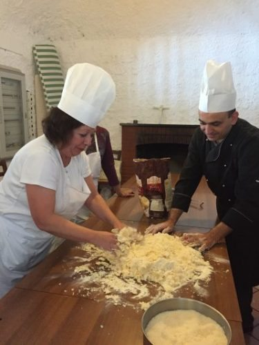 Cooking class on the Amalfi Coast with Travel Italian Style friend Chef Paolo. Photo by Travel Italian Style.