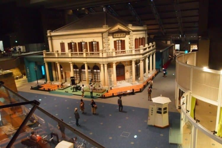 A replica of an Edo-era building in the Edo-Tokyo Museum, you look down at this from the balcony.