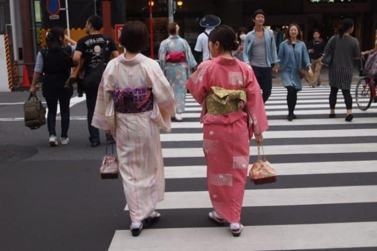 Geishas are a common site walking in downtown Tokyo.