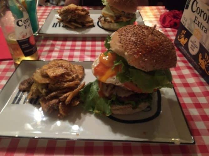 One of Nah Nah Bah's famed burgers.
