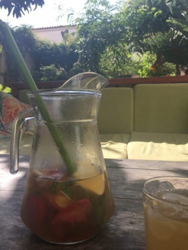 Green sangria in Lagos, Portugal.