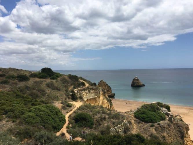Overlooking the Ponta da Piedade in Lagos Portugal. Isabelle Kagan photos.