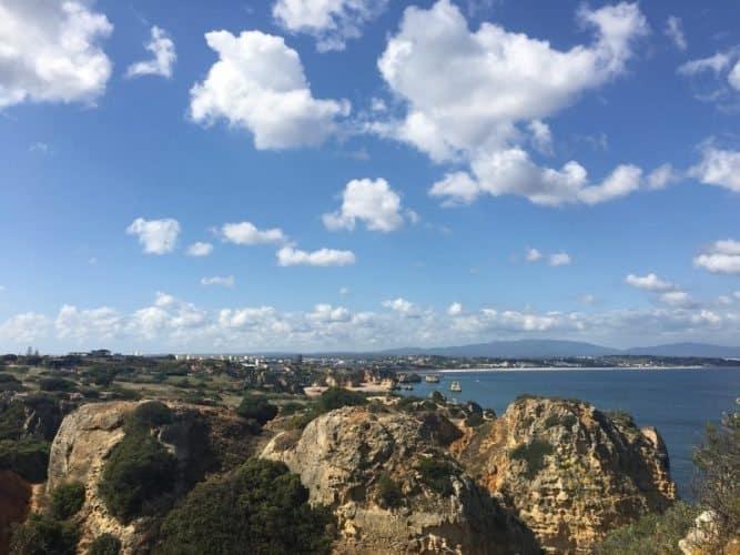 View from the top of Ponta da Piedade.