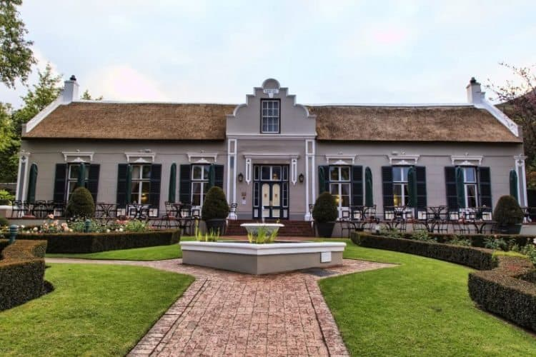 The grande dame of Paarl - the historic Grande Roche hotel.