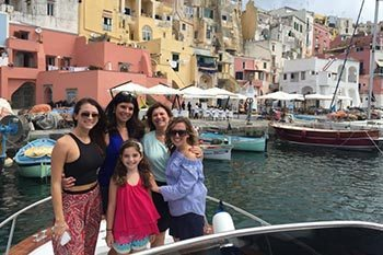 On Italy's Amalfi coast on the island of Procida.
