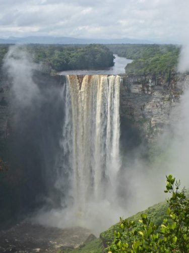 Kaieteur, the world's longest single stream waterfall in Guyana, South America, is often-shrouded in mist due to the powerful cascade. Edward Placidi photos.