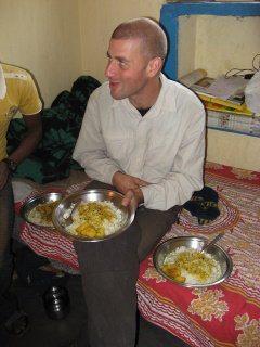 Dining in Pushkar, India.