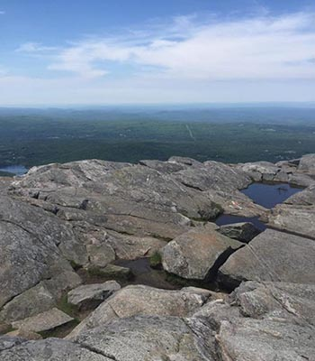 Mount Monadnock looks over thousands of acres of protected highlands