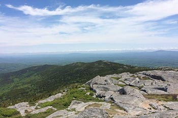 Hiking up Mount Monadnock, New Hampshire