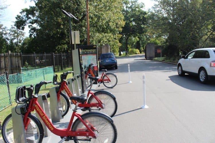 Bike rental near R Street entrance