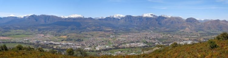 Panoramic view across Paarl.