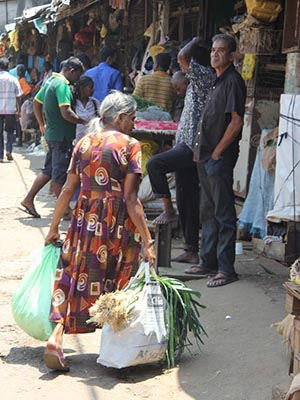 Stocking up at the Colombo's Pettah outdoor market.