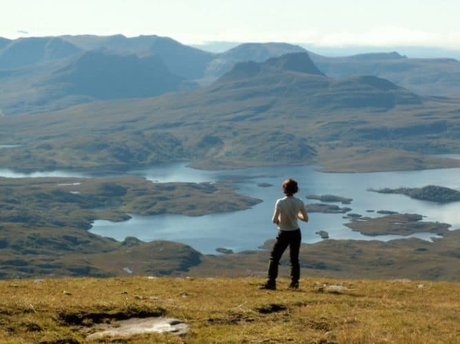 There are many lochs and mountains in Scotland