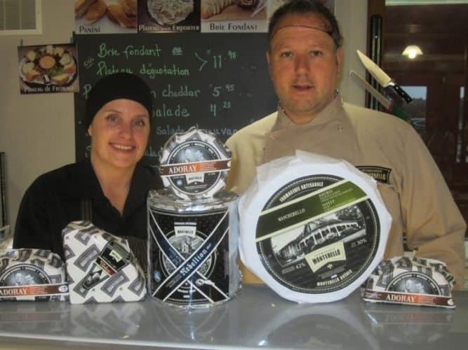 Master Cheesemaker Alain Boyer and his impressive Manager Deborah Roch