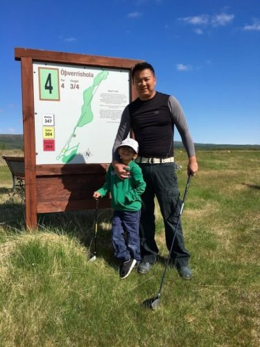 Distance is measured in meters on Icelandic golf courses. If you're used to judging distance in yards, this might throw off your game.