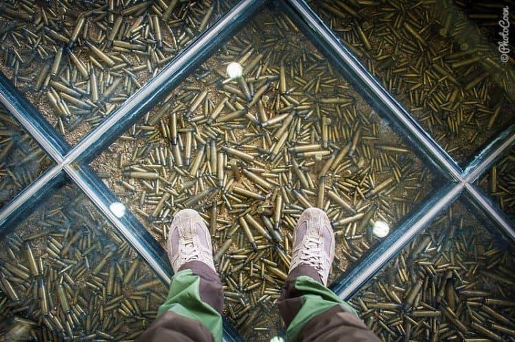 Bullet casings at the DMZ.