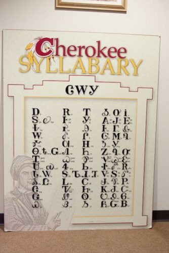 Cherokee Syllabary - 86 Characters representing all the sounds of the Cheroke language