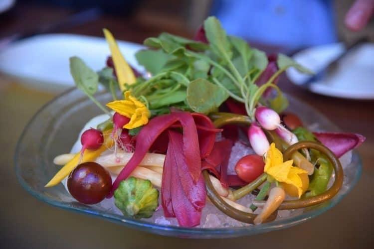 Chef's Vegetable Salad at Patina 250 restaurant for dinner.