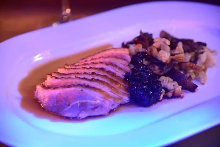 Roasted duck specialty entree at Patina 250