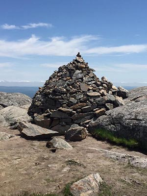 Near the top of Monadnock, we began to see giant rock piles