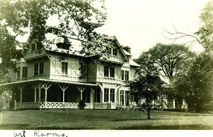 As Time Goes By. c. 1915. Photo post card of The J.N.A. Griswold House. Located on Bellevue Avenue across from Touro Park. This home was the first major commission for architect Richard Morris Hunt. Built between 1861-1864, during The Civil War. Griswold was a wealthy business man who was introduced to Hunt while traveling in Europe. Today the home is the main building of The Newport Art Museum and is open to the public.