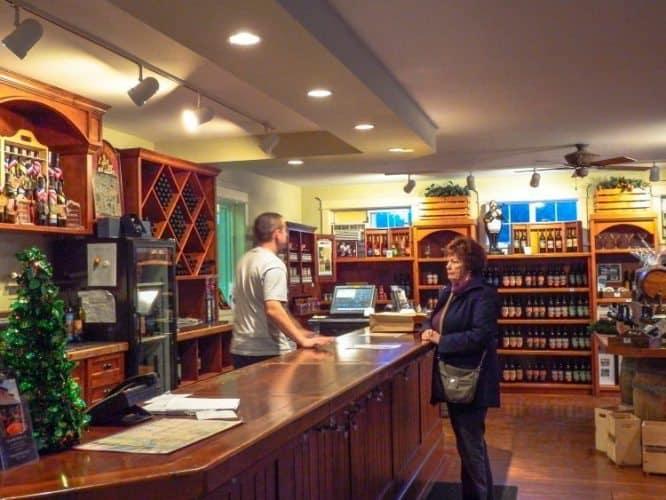 Buying Wine Fort Winery in British Columbia.