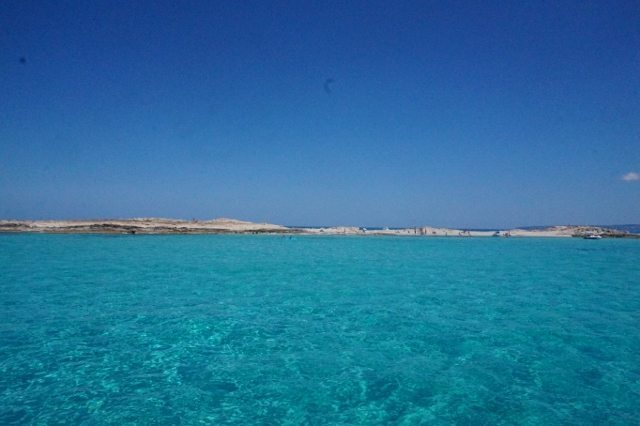 One of the beaches on Formentera, a small island off the coast of Ibiza.