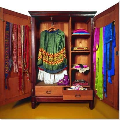 Frida's wardrobe at La Casa Azul in Mexico City.